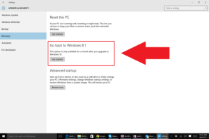 How To Rollback Your Windows 10 Installation To The Previous Windows Version