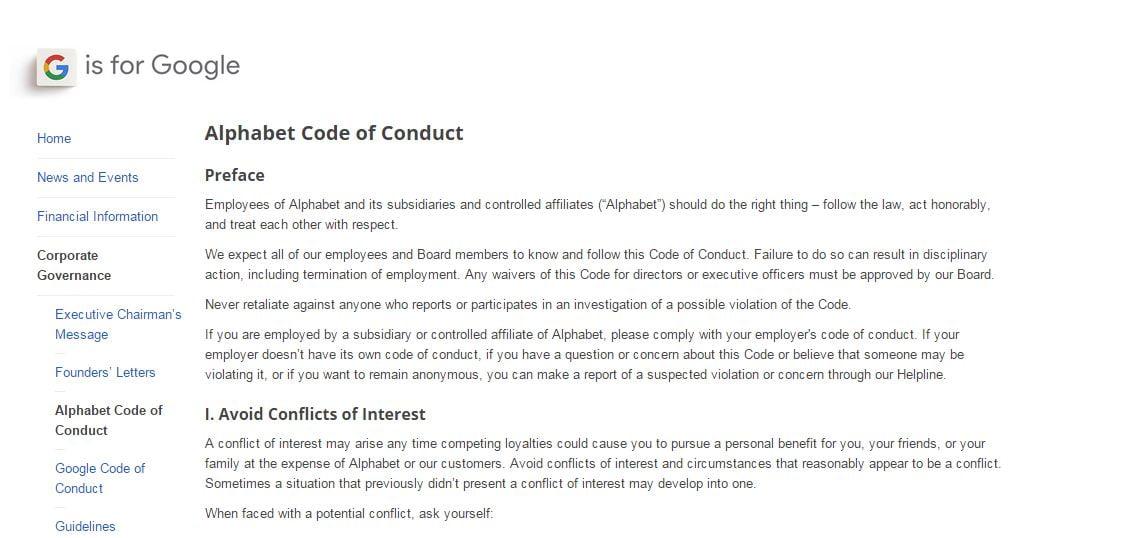 Google-Alphabet-Code-of-conduct
