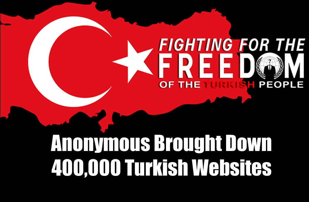 Anonymous Brought Down Turkish Websites