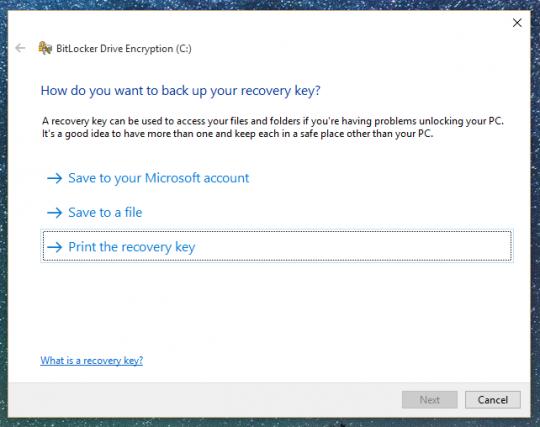 Disk Encryption Key