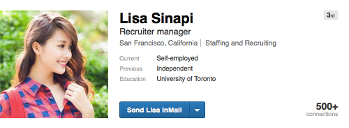 Fraudulent LinkedIn Profiles