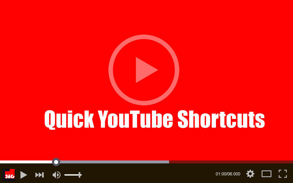Quick YouTube Shortcuts