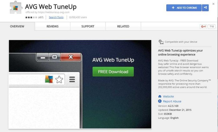 Security flaw in avg web tuneup