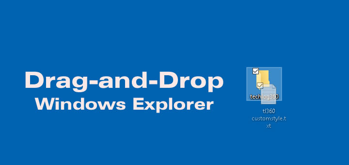 This Simple drag-and-drop feature in Windows explorer can save your time