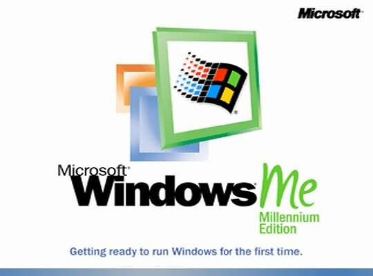 Failed Microsoft products - Windows ME