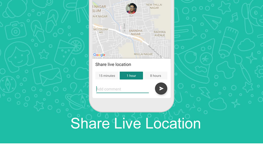 WhatsApp Live Location Sharing Tracking Feature