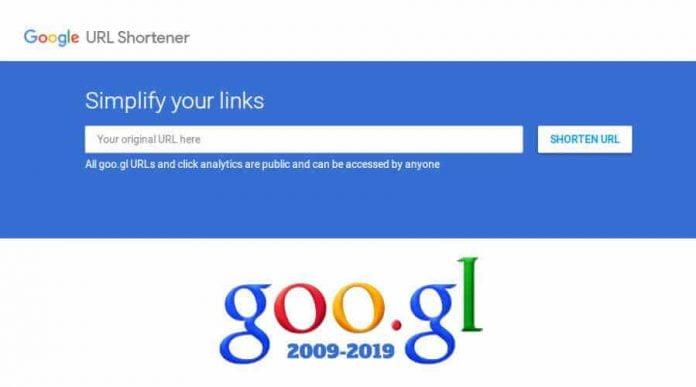 Google shutting down its URL shortening service goo.gl