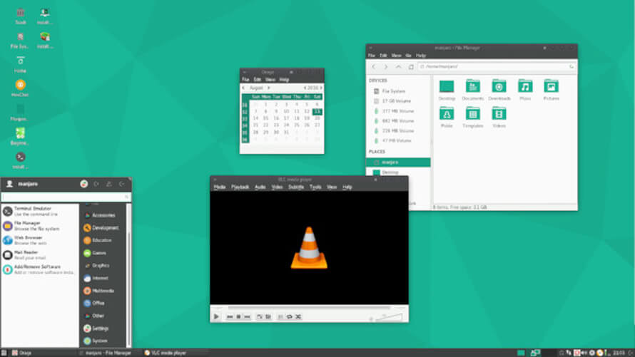 Manjaro Linux XFCE Edition - Lightweight Linux Distributions