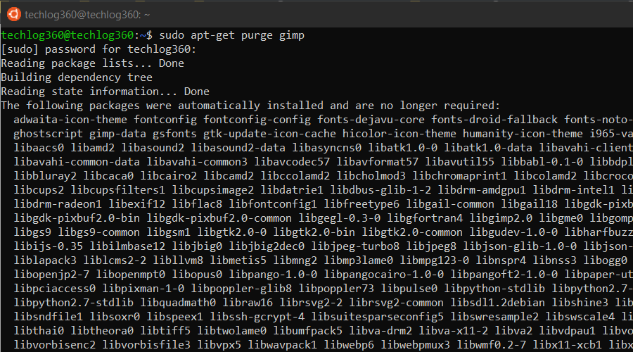 sudo apt-get purge - Basic Ubuntu Commands