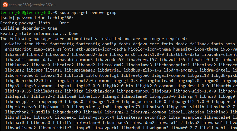 sudo apt-get remove - Basic Ubuntu Commands