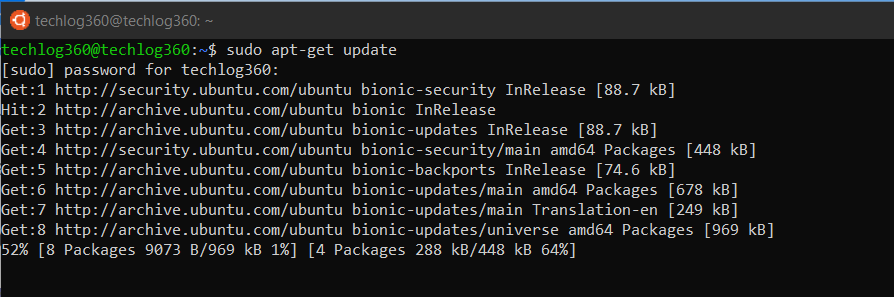 sudo apt-get update - Basic Ubuntu Commands