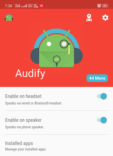 Enable automatic notification reading feature on Android