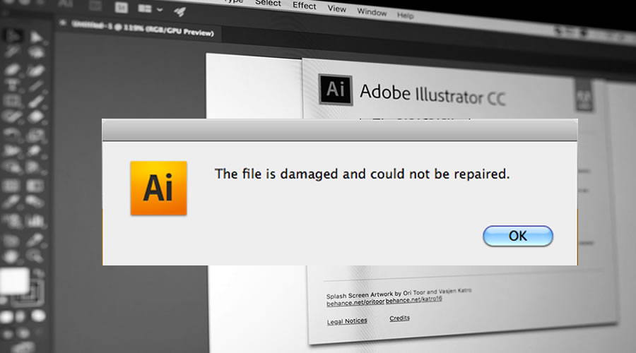 Corrupted Adobe Illustrator Files
