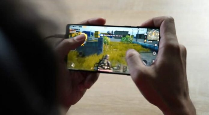 Playing pubg mobile
